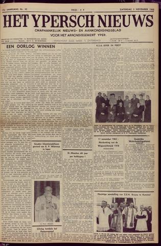 Het Ypersch nieuws (1929-1971) 1962-11-03
