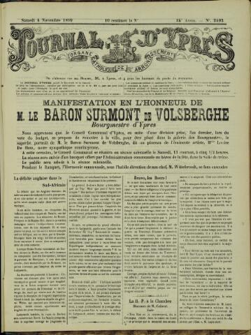 Journal d'Ypres (1874 - 1913) 1899-11-04
