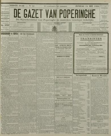 De Gazet van Poperinghe  (1921-1940) 1922-05-14