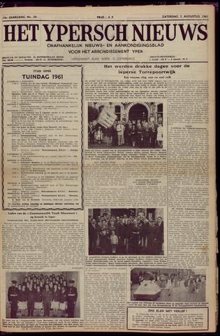 Het Ypersch nieuws (1929-1971) 1961-08-05