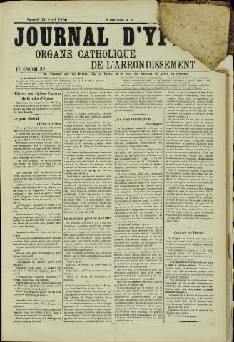 Journal d'Ypres (1874 - 1913) 1906-04-21