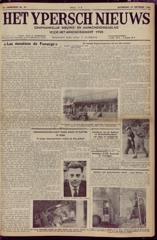 Het Ypersch nieuws (1929-1971) 1962-10-20