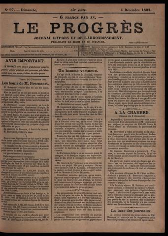 Le Progrès (1841-1914) 1892-12-04