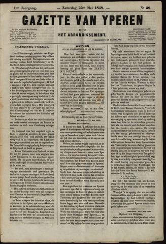 Gazette van Yperen (1857-1862) 1858-05-22