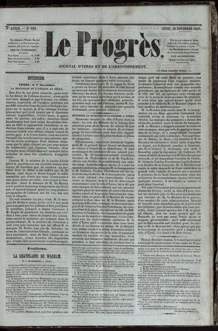 Le Progrès (1841-1914) 1847-11-18