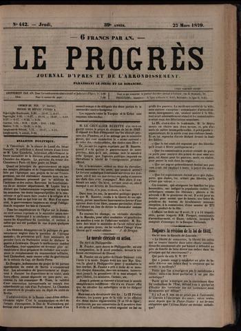 Le Progrès (1841-1914) 1879-03-27