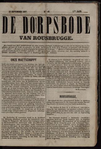De Dorpsbode van Rousbrugge (1856-1857 en 1860-1862) 1857-09-15