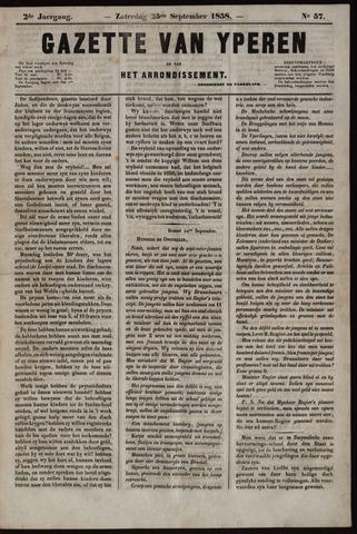 Gazette van Yperen (1857-1862) 1858-09-25