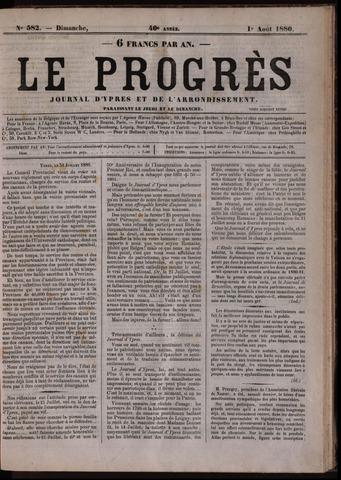 Le Progrès (1841-1914) 1880-08-01