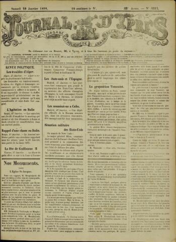 Journal d'Ypres (1874 - 1913) 1898-01-29