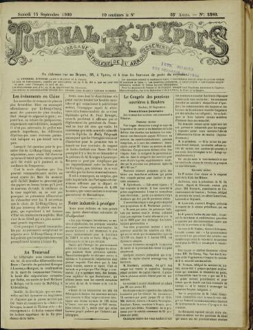 Journal d'Ypres (1874 - 1913) 1900-09-15