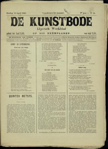 De Kunstbode (1880 - 1883) 1881-04-10