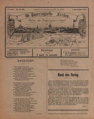 De Poperingsche Keikop (1917-1919) 1918-09-01