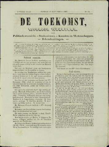 De Toekomst (1862 - 1894) 1863-01-25