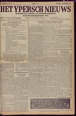 Het Ypersch nieuws (1929-1971) 1967-11-03