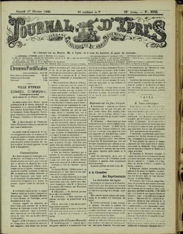 Journal d'Ypres (1874 - 1913) 1900-02-17