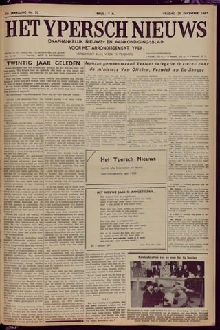 Het Ypersch nieuws (1929-1971) 1967-12-29