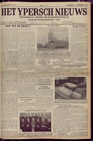 Het Ypersch nieuws (1929-1971) 1962-11-10