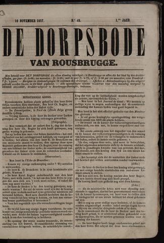 De Dorpsbode van Rousbrugge (1856-1857 en 1860-1862) 1857-11-10
