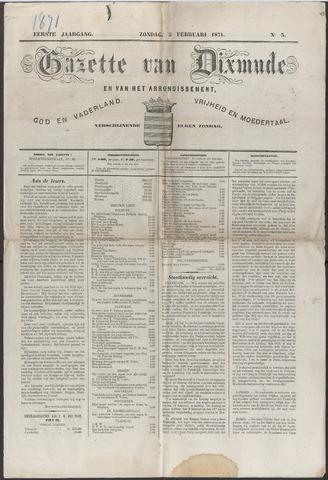 Gazette van Dixmude 1871-02-05