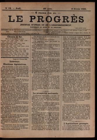 Le Progrès (1841-1914) 1888-02-09