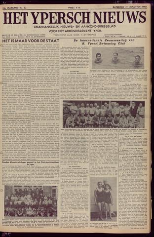 Het Ypersch nieuws (1929-1971) 1965-08-21