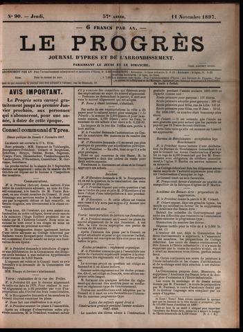 Le Progrès (1841-1914) 1897-11-11