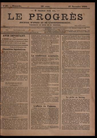 Le Progrès (1841-1914) 1892-11-27