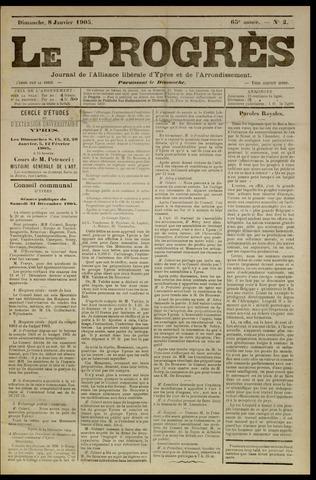 Le Progrès (1841-1914) 1905-01-08
