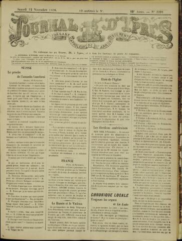 Journal d'Ypres (1874 - 1913) 1898-11-12