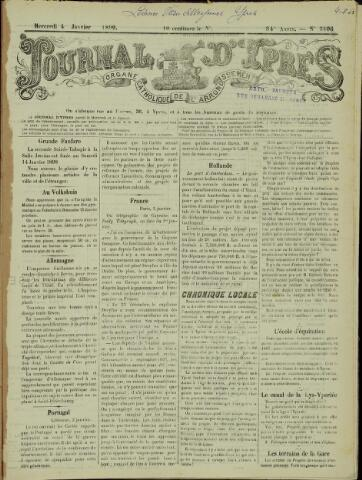 Journal d'Ypres (1874 - 1913) 1899-01-04