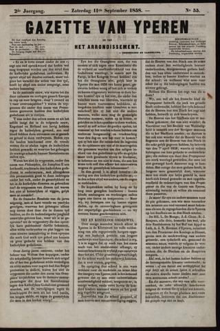 Gazette van Yperen (1857-1862) 1858-09-11