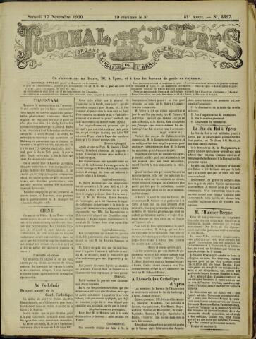 Journal d'Ypres (1874 - 1913) 1900-11-17