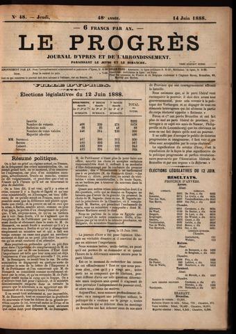 Le Progrès (1841-1914) 1888-06-14