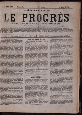 Le Progrès (1841-1914) 1880-08-08