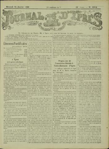 Journal d'Ypres (1874 - 1913) 1900-01-24