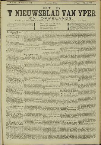 Nieuwsblad van Yperen en van het Arrondissement (1872 - 1912) 1902-09-13