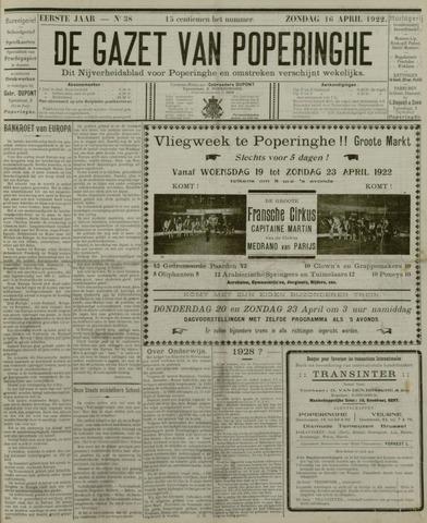 De Gazet van Poperinghe  (1921-1940) 1922-04-16