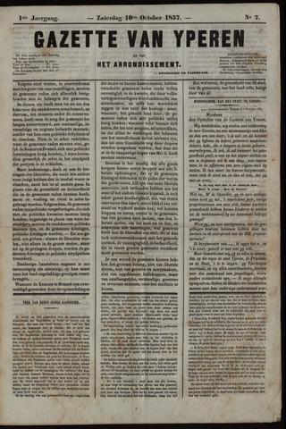 Gazette van Yperen (1857-1862) 1857-10-10