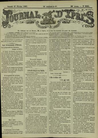 Journal d'Ypres (1874 - 1913) 1897-02-27