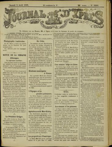 Journal d'Ypres (1874 - 1913) 1898-04-02