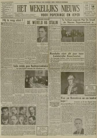 Het Wekelijks Nieuws (1946-1990) 1953-03-14