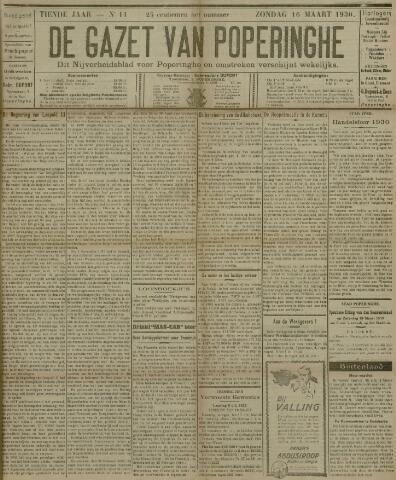 De Gazet van Poperinghe  (1921-1940) 1930-03-16