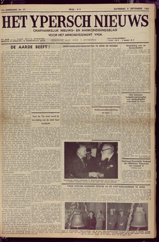 Het Ypersch nieuws (1929-1971) 1962-09-08