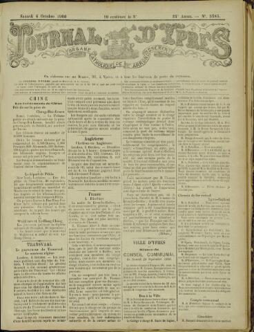 Journal d'Ypres (1874 - 1913) 1900-10-06