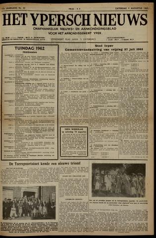 Het Ypersch nieuws (1929-1971) 1962-08-04