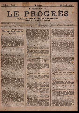 Le Progrès (1841-1914) 1892-04-28
