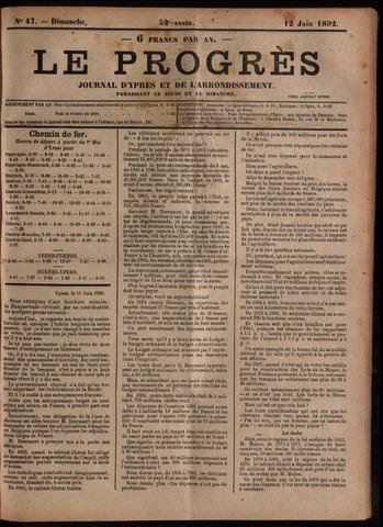 Le Progrès (1841-1914) 1892-06-12