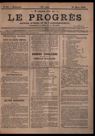 Le Progrès (1841-1914) 1892-03-27