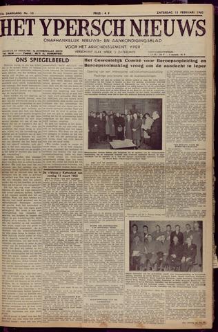 Het Ypersch nieuws (1929-1971) 1960-02-13
